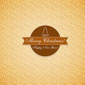 Gelukkig nieuw jaar en merry christmas — Stockvector