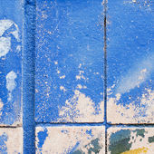 Wall texture painted in blue — Stock Photo