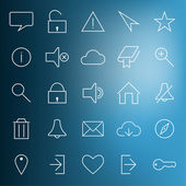 Set of modern web icons — Stock Vector