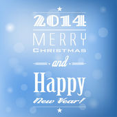 Label for Merry Christmas and Happy New Year. — Stock Vector