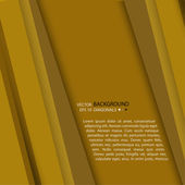 Background from strips of yellow paper overlay each other — Stockvektor
