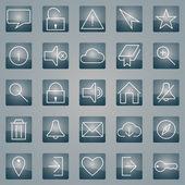 Conjunto de iconos web moderno — Vector de stock