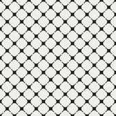 Geometric seamless pattern with unusual rounded crosses and squa — Stock Vector