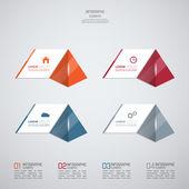 Barevná plastová tlačítka pro infographic — Stock vektor
