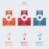 Glossy colorful  plastic buttons for infographic — Vettoriale Stock