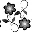 Black and gray floral border — Stock Photo