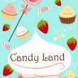 Candy land cute poster — Stock Photo