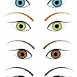 Illustration of four different colour eyes — Stock Photo #13389286