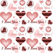 Stock Photo: Love pattern