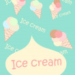 Ice cream retro poster — Stock Photo