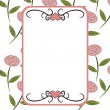 Stock Photo: Retro floral frame