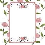 Retro floral frame — Stock Photo