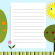 Abstract illustration of the notepad with nature background — Foto Stock