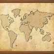 World map in old grunge style — Stock Photo