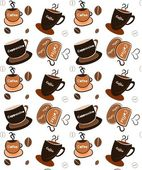 Coffee cups background — Foto Stock