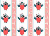 Owl pattern — Stock Photo