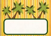 Tropical banner — Stock Photo