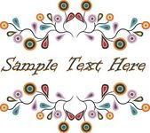 Abstractly designed text frame — Stock Photo