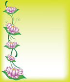 Border with swirls and lotus flowers — Stock Photo