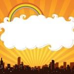 City panorama banner — Stock Photo