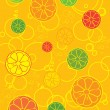 Stock Photo: Different fresh fruits background or walpaper with bubbles