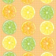Abstract background with orange, lemon and lime slices — Stock Photo