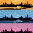 Abstract illustration of the city panorama in different colours — Stock Photo #13410677