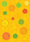 Different fresh fruits background or walpaper with bubbles — Stock Photo