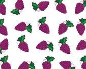 Seamless abstract illustration of blackberries in cartoon style — Stock Photo