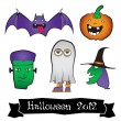 Halloween Character Pack — Stock Vector