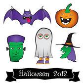 Halloween Character Pack — Stock Vector