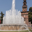 Sforzesco castle, Milan — Stock Photo #13378439