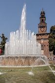 замок сфорцеско, милан — Стоковое фото