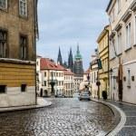 Old street in Prague — Stock Photo
