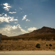 Desert, mountains, sky - Stockfoto