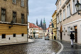 Old street in Prague — Stock Photo