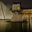 Louvre Pyramid and Pavillon Richelieu — Stock Photo #19070523