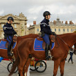 Mounted Police in Paris - Stock Photo