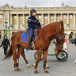 Stock Photo: Mounted Police in Paris