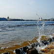 Stock Photo: View from banks of Neva.