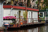Canal Home of Amsterdam Netherlands — Stock Photo