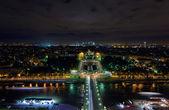 巴黎的城市夜景 — 图库照片
