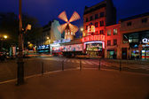 Moulin Rouge night view — Foto de Stock
