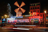 Moulin Rouge night view — Stock Photo