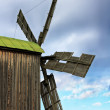 Big wooden windmill — Stock Photo