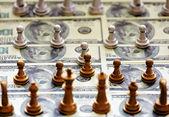 Finance Chess — Stock Photo