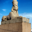 Sphinx on embankment of the river Neva — Stock Photo