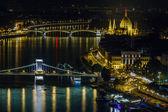 Budapest di notte — Foto Stock