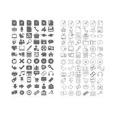 72 Top Icons — Stock Vector