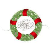 Christmas wreath — Cтоковый вектор
